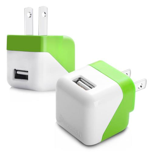 Insten USB Mini Travel Charger , Green