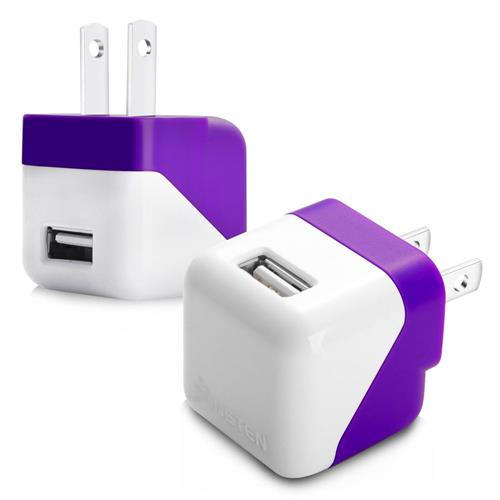 Insten USB Mini Travel Charger , Purple