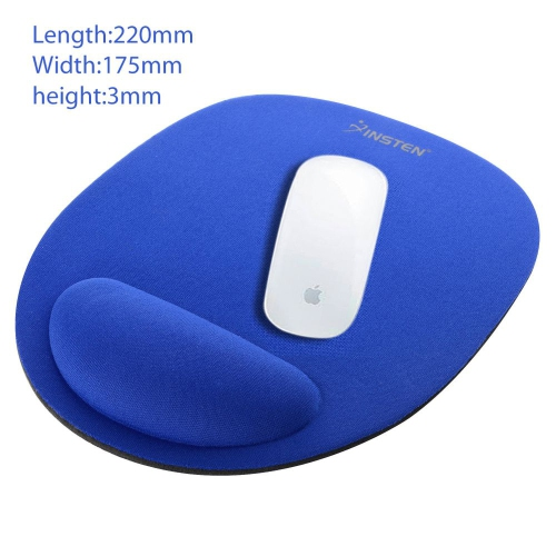 Insten Wrist Comfort Smooth Cushion Mouse Pad Mat For Optical/ Trackball Mouse Computer PC Laptop Desktop, Blue