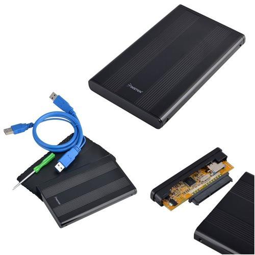 Insten USB 3.0 SATA HDD 2.5-inch Enclosure, Black