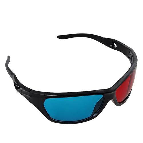 Insten 3D Anaglyph Glasses with Frame, Red / Blue