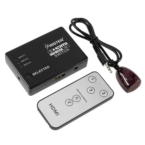 Insten 3 Port HDMI Splitter + IR Remote