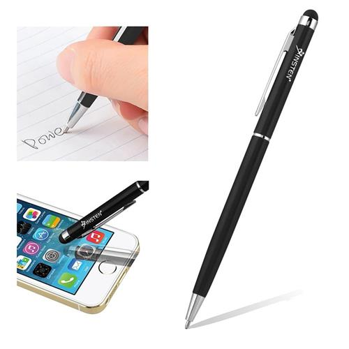 Insten 2-in-1 Capacitive Touch Screen Stylus Ballpoint Pen, Black