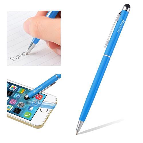 Insten 2-in-1 Capacitive Touch Screen Stylus Ballpoint Pen, Light Blue
