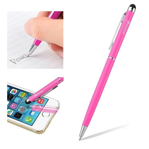 Insten 2-in-1 Capacitive Touch Screen Stylus Ballpoint Pen, Pink