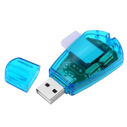 Insten SIM Card Reader, Blue