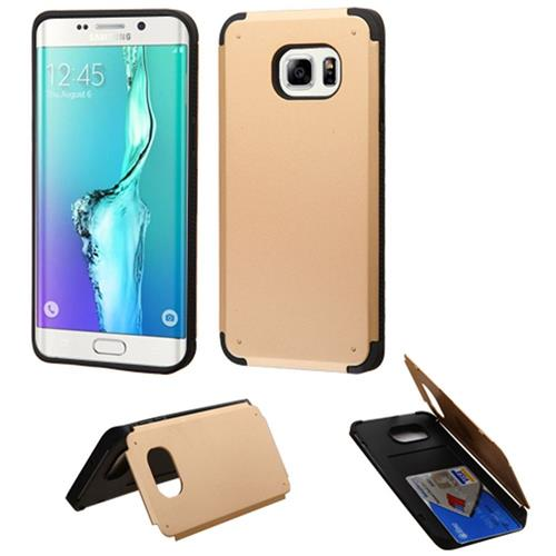 Insten Hard Cover Case For Samsung Galaxy S6 Edge Plus, Gold