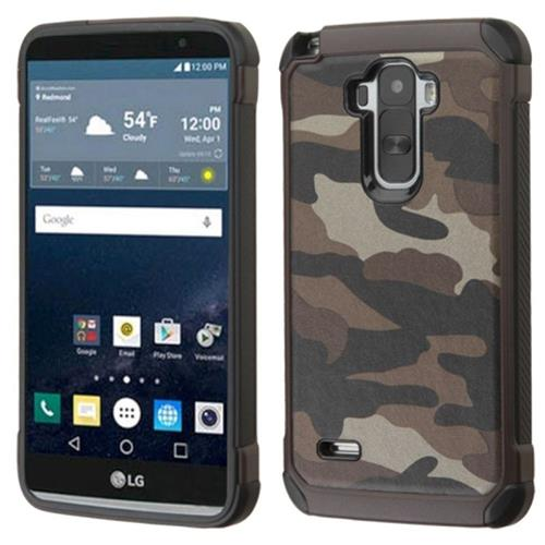 Insten Camouflage Hard Hybrid Rubber Silicone Case For LG G Stylo, Gray/Black
