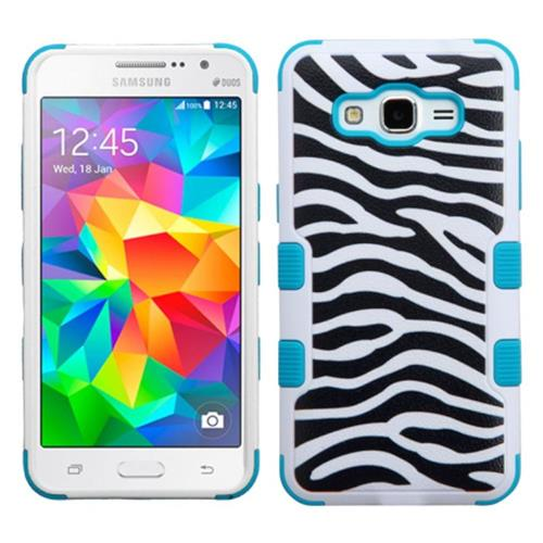Insten Fitted Soft Shell Case for Samsung Galaxy Grand Prime - White;Black