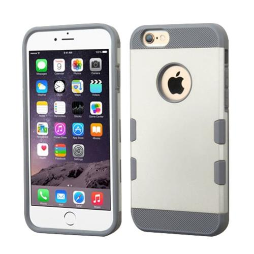 Insten Hard TPU Case For Apple iPhone 6 Plus/6s Plus, White/Gray
