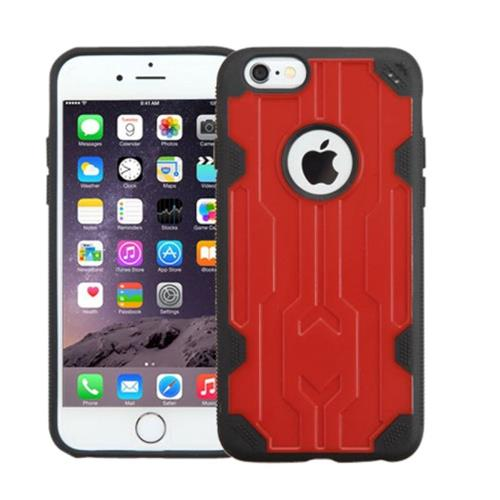 Insten Hard TPU Cover Case For Apple iPhone 6 Plus/6s Plus, Red/Black
