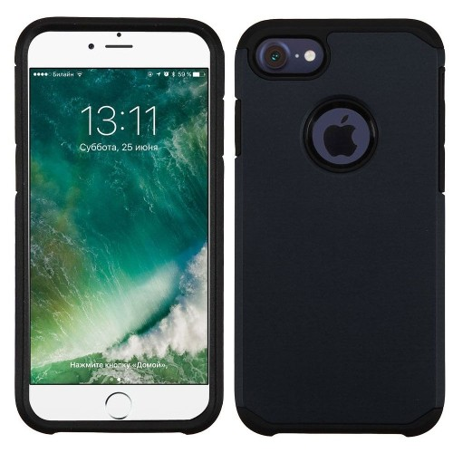 Insten Hard Hybrid Silicone Case For Apple iPhone 7/iPhone 8, Black