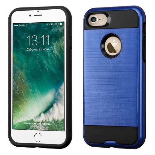 Insten Hard Hybrid TPU Cover Case For Apple iPhone 7/iPhone 8, Blue/Black
