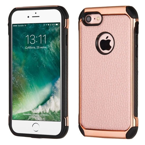 Insten Hard Dual Layer TPU Cover Case For Apple iPhone 7/iPhone 8, Rose Gold/Black
