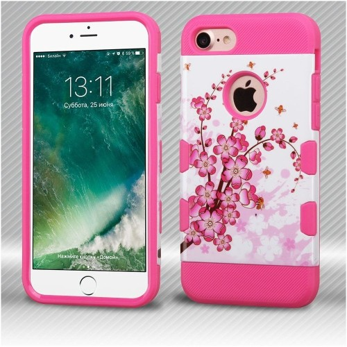 Insten Spring Flowers Hard TPU Case For Apple iPhone 7/iPhone 8, Pink