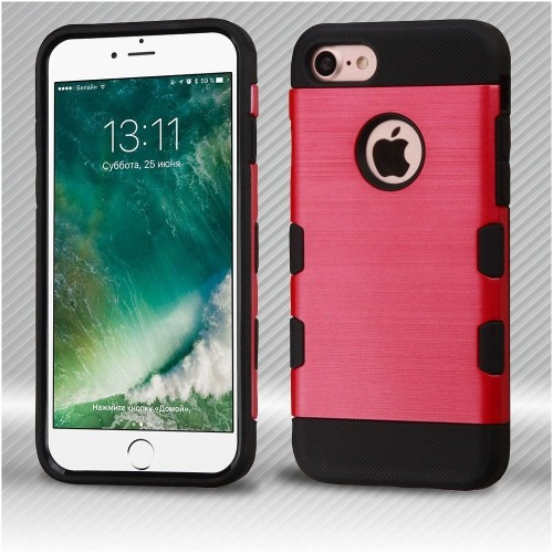 Insten Hard TPU Case For Apple iPhone 7/iPhone 8, Red/Black