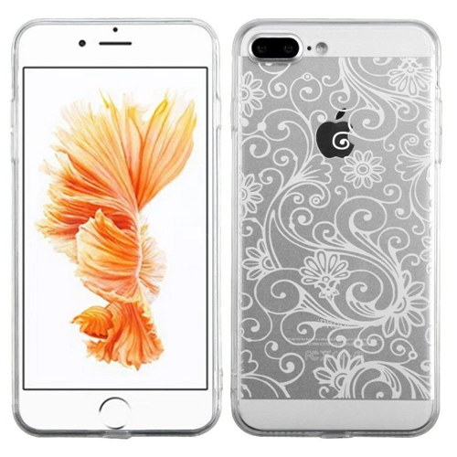 Insten Four-leaf Clover Gel Case For Apple iPhone 7 Plus/8 Plus, White