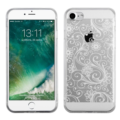 Insten Four-leaf Clover TPU Case For Apple iPhone 7/iPhone 8, White