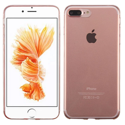 Insten Gel Cover Case For Apple iPhone 7 Plus/8 Plus, Clear/Rose Gold