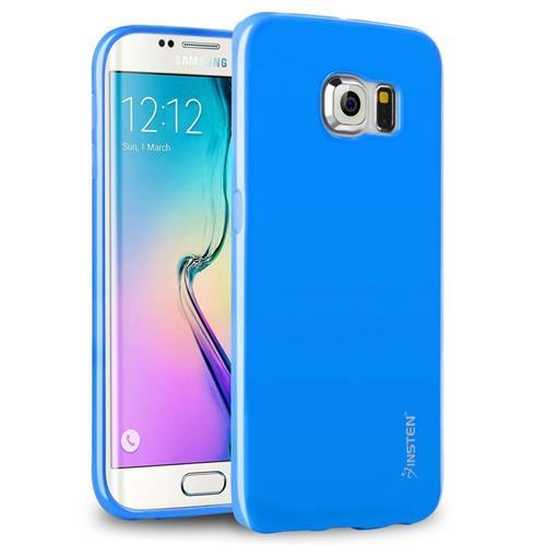 Insten Jelly Gel Case For Samsung Galaxy S6 Edge, Sky Blue