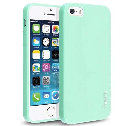 Insten TPU Cover Case For Apple iPhone 5/5S/SE, Mint Green