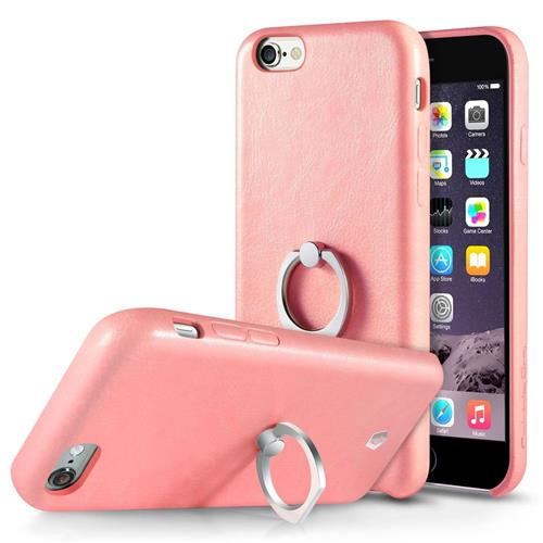 Cobble Pro Leather Fabric Case w/Ring stand For Apple iPhone 6 Plus/6s Plus, Pink