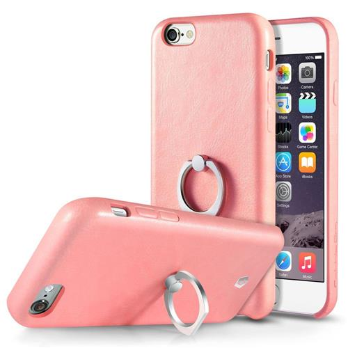 Cobble Pro Leather Fabric Cover Case w/Ring stand For Apple iPhone 6/6s, Pink