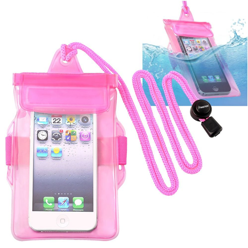 Insten Waterproof Bag Case for Cell Phone, Hot Pink