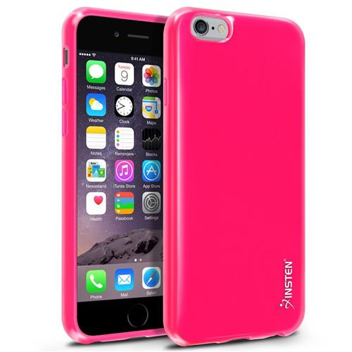 Insten Rubber Case For Apple iPhone 6/6s, Hot Pink