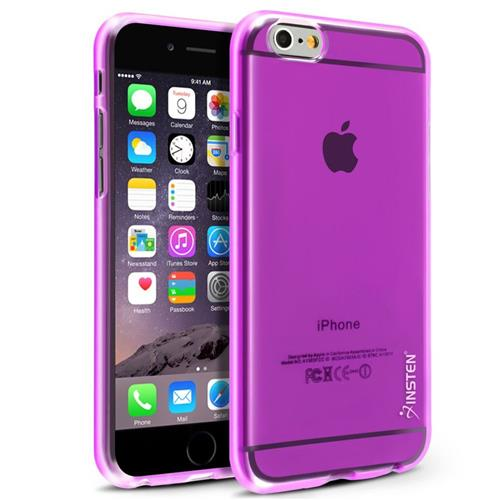 Insten TPU Clear Cover Case For Apple iPhone 6/6s, Purple