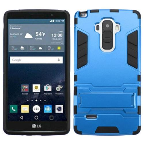 Insten Hard Hybrid Rubber Silicone Case w/stand For LG G Stylo, Blue/Black