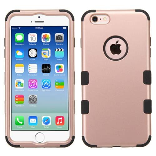 Insten Tuff Hard Hybrid Silicone Case For Apple iPhone 6/6s, Rose Gold