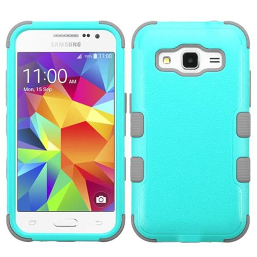 Insten Tuff Hard Dual Layer Rubber Silicone Case For Samsung Galaxy Core Prime, Teal/Gray