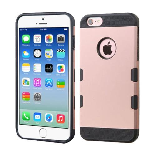 Insten Hard TPU Case For Apple iPhone 6/6s, Rose Gold/Black