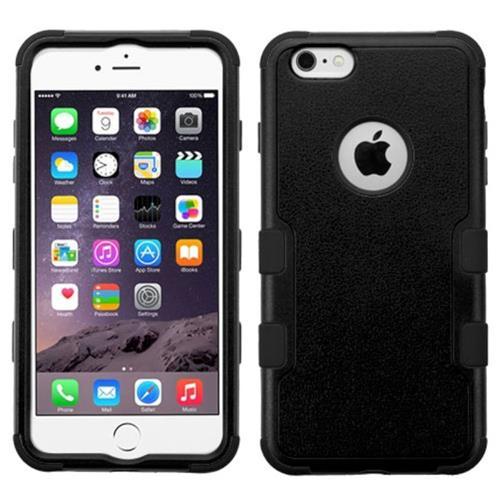 Insten Tuff Hard Dual Layer Silicone Case For Apple iPhone 6 Plus/6s Plus, Black