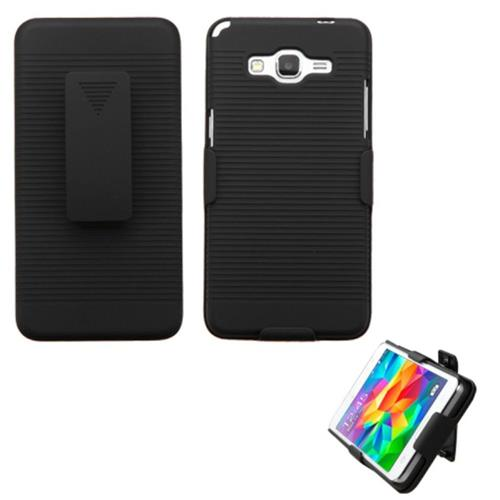Insten Hard Case w/Holster For Samsung Galaxy Grand Prime, Black