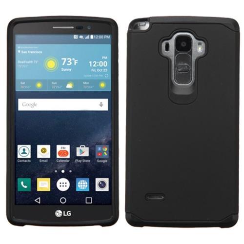 Insten Hard Hybrid Rubber Silicone Cover Case For LG G Stylo/G Vista 2, Black