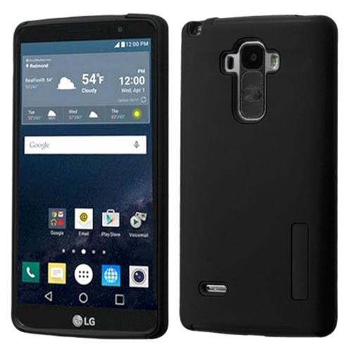Insten Hard Dual Layer Silicone Cover Case For LG G Stylo, Black