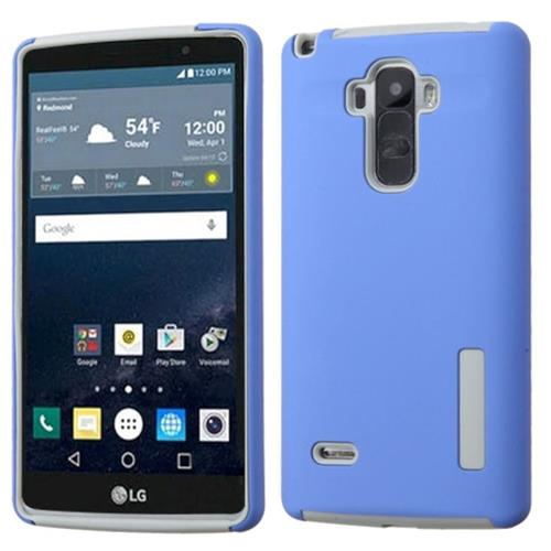 Insten Hard Dual Layer Silicone Cover Case For LG G Stylo, Blue/Gray
