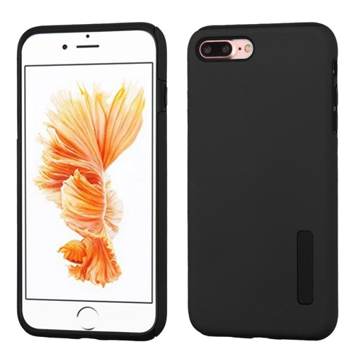 Insten Hard Dual Layer Rubberized Silicone Cover Case For Apple iPhone 7 Plus/8 Plus, Black