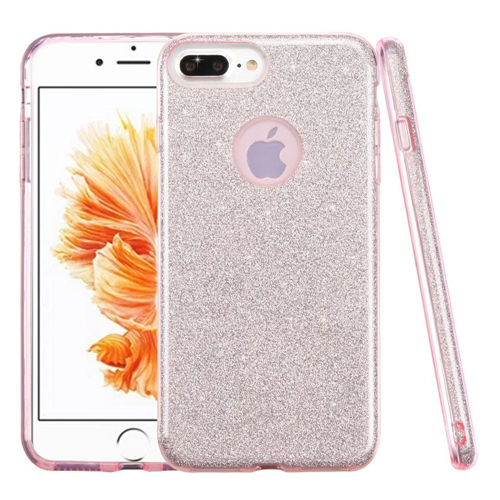 Insten Hard Hybrid Glitter TPU Case For Apple iPhone 7 Plus/8 Plus, Pink