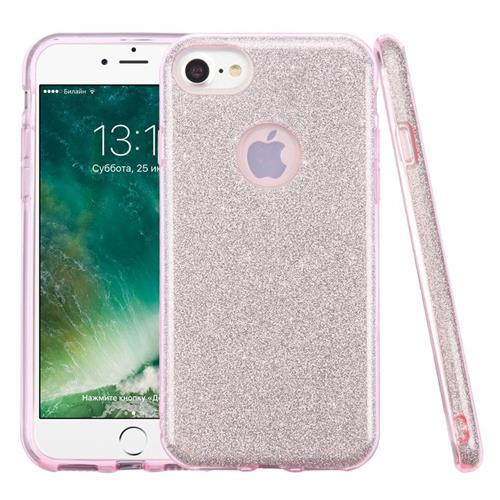 Insten Hard Dual Layer Glitter TPU Cover Case For Apple iPhone 7, Pink