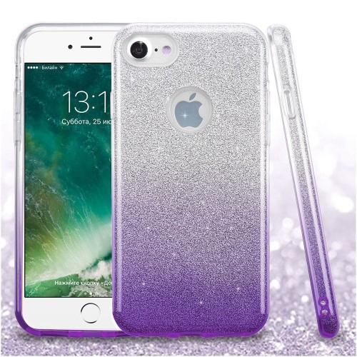 Insten Hard Dual Layer Glitter TPU Case For Apple iPhone 7/iPhone 8, Purple