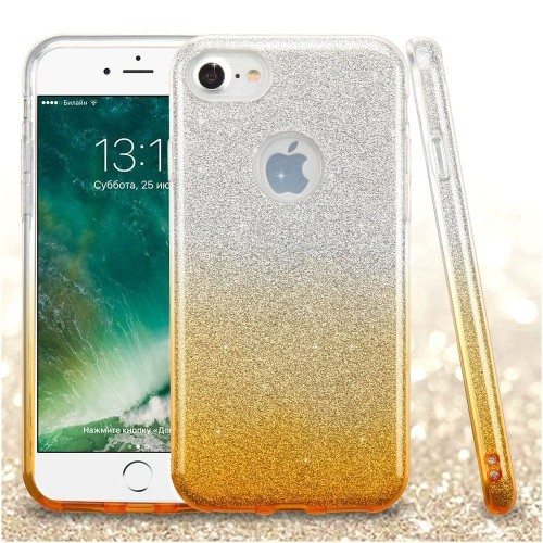 Insten Hard Dual Layer Glitter TPU Case For Apple iPhone 7/iPhone 8, Gold