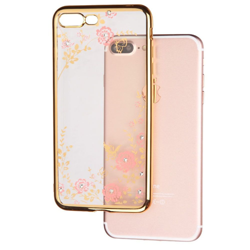 Insten Secret Garden Gel Case For Apple iPhone 7 Plus/8 Plus, Gold