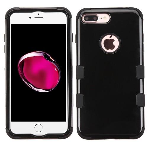 Insten Tuff Hard Hybrid Silicone Case For Apple iPhone 7 Plus/8 Plus, Black