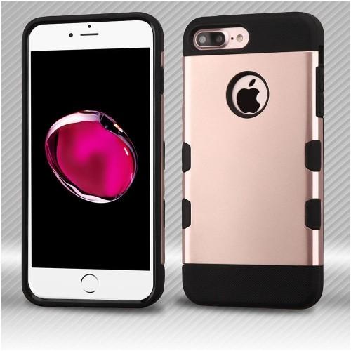 Insten Hard TPU Case For Apple iPhone 7 Plus/8 Plus, Rose Gold/Black