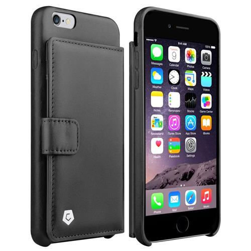 Cobble Pro Genuine leather Fabric Case w/card holder For Apple iPhone 6 Plus/6s Plus,Black