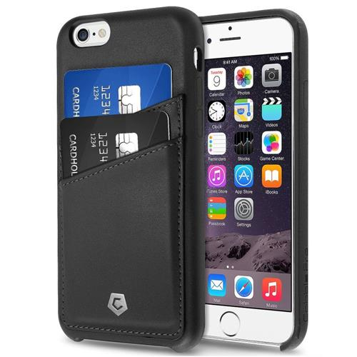 Cobble Pro Leather Fabric Case w/card holder For Apple iPhone 6/6s, Black