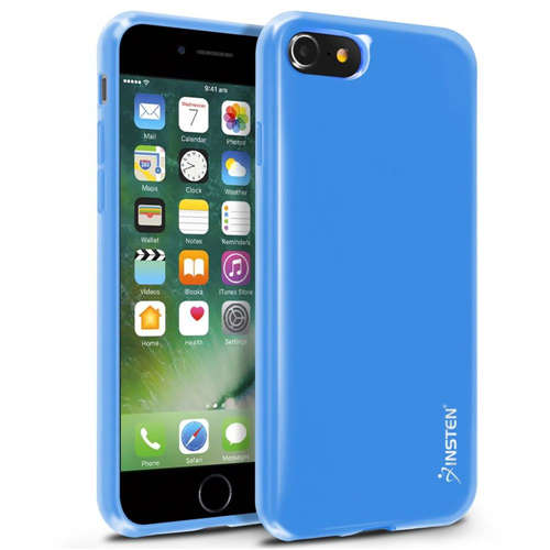 Insten Jelly TPU Cover Case For Apple iPhone 7/iPhone 8, Blue